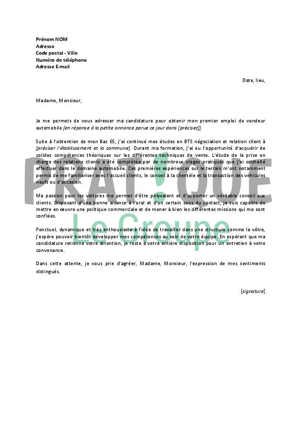 lettre de motivation vendeur conseil d u00e9butant