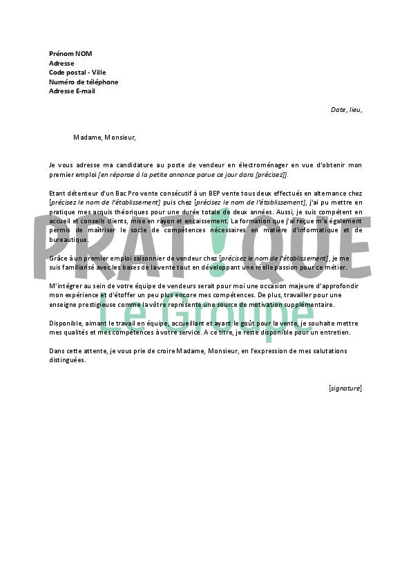 Lettre de motivation boulanger electromenager - laboite-cv.fr