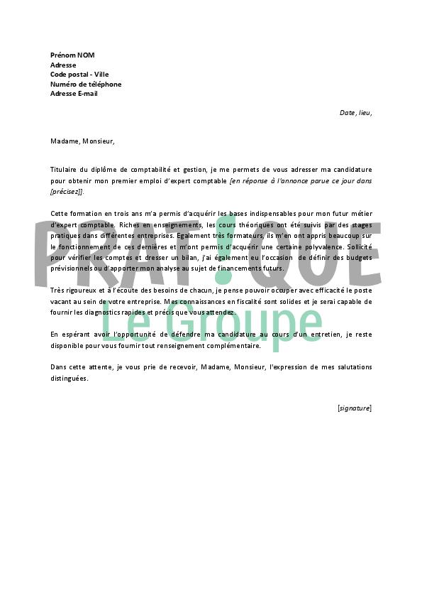 Lettre de motivation cabinet expert comptable - laboite-cv.fr