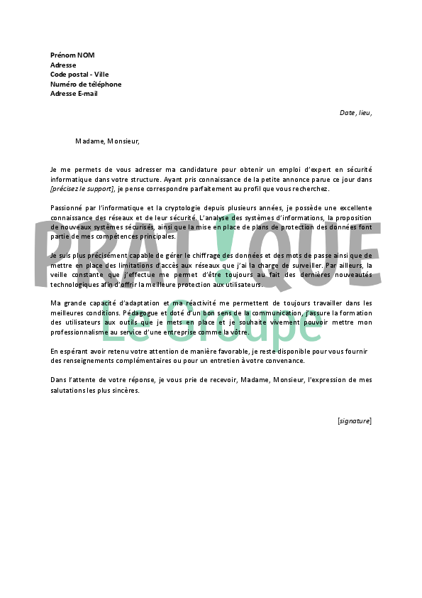capacit u00e9 d u0026 39 adaptation lettre de motivation