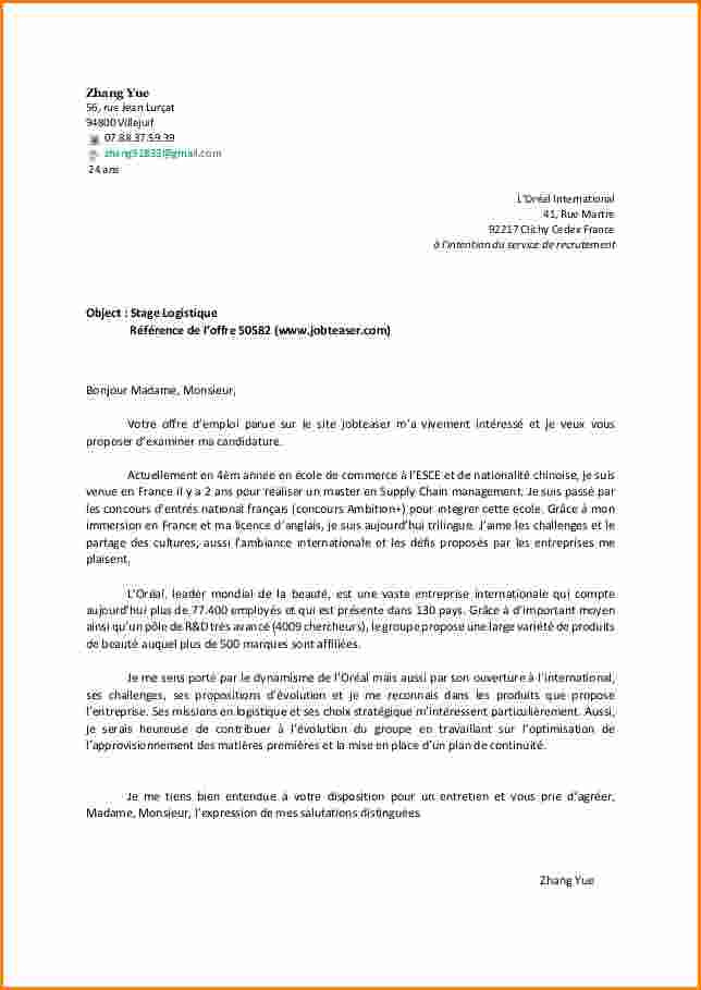 modele de lettre de motivation immersion professionnelle