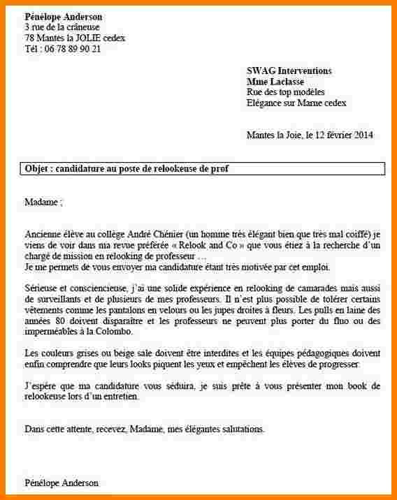 lettre de motivation enseignant contractuel lycee