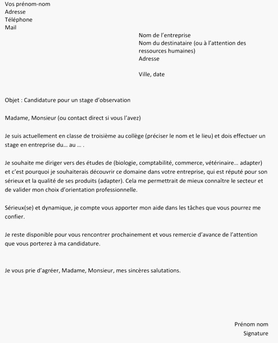Prestement Prespiote Lettre De Motivation: Exemple Lettre De Motivation Senior