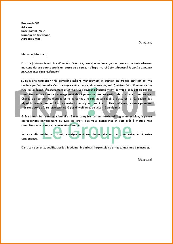 Lettre de motivation hotesse de caisse spontanée - laboite-cv.fr