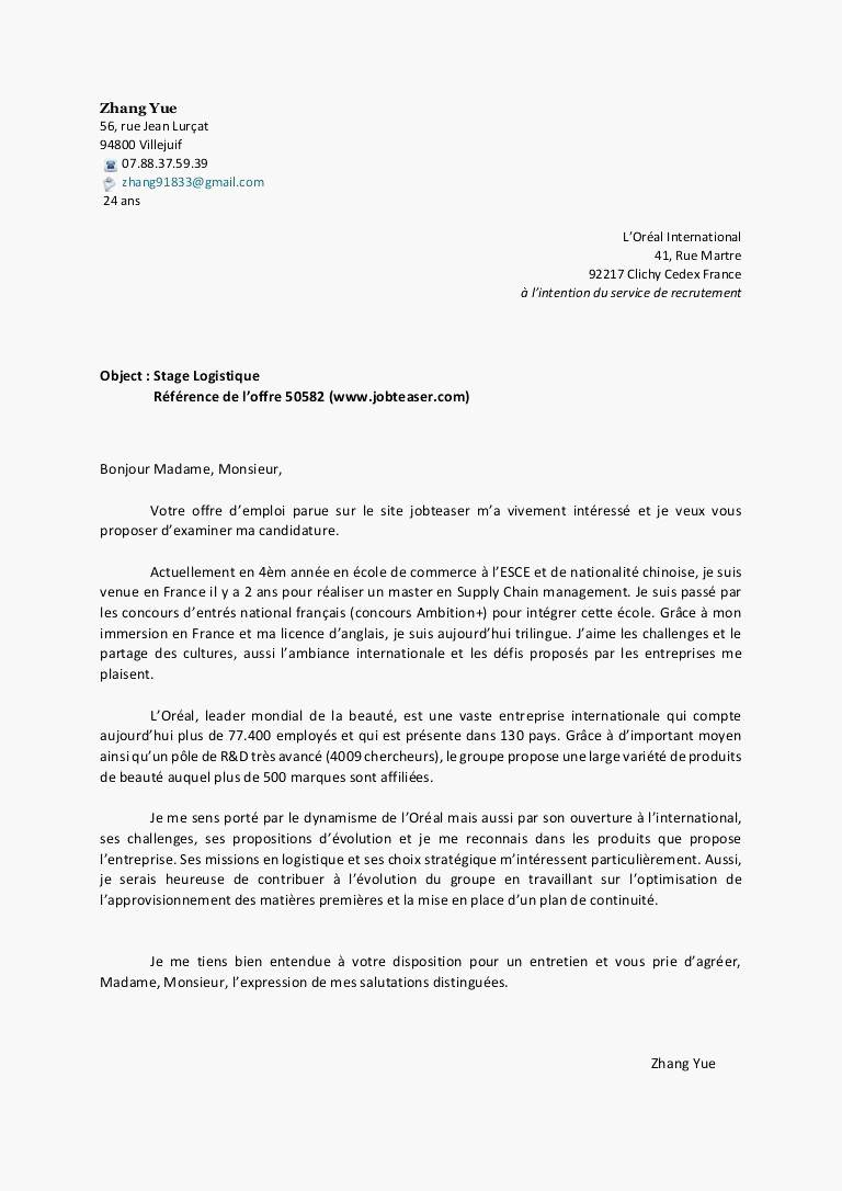 lettre de motivation master qse alternance