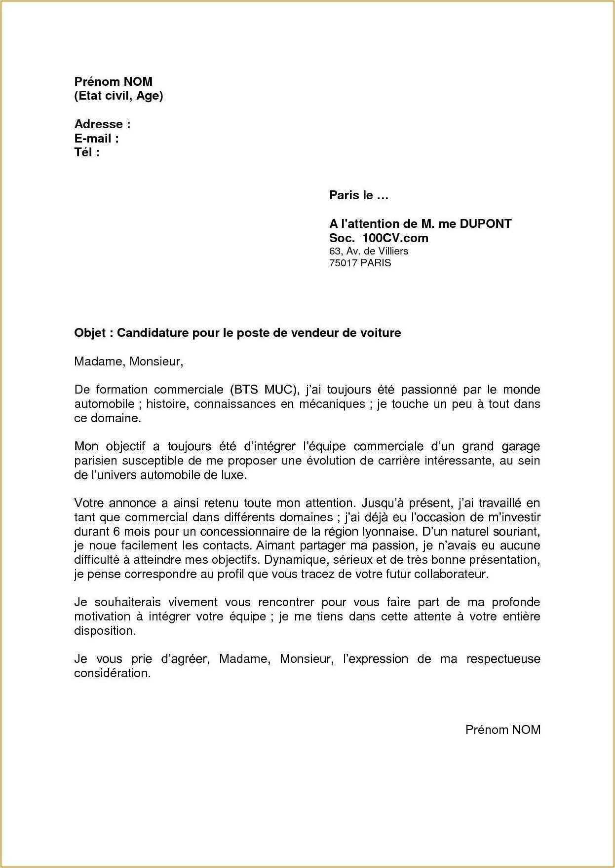 lettre de motivation laboratoire stage