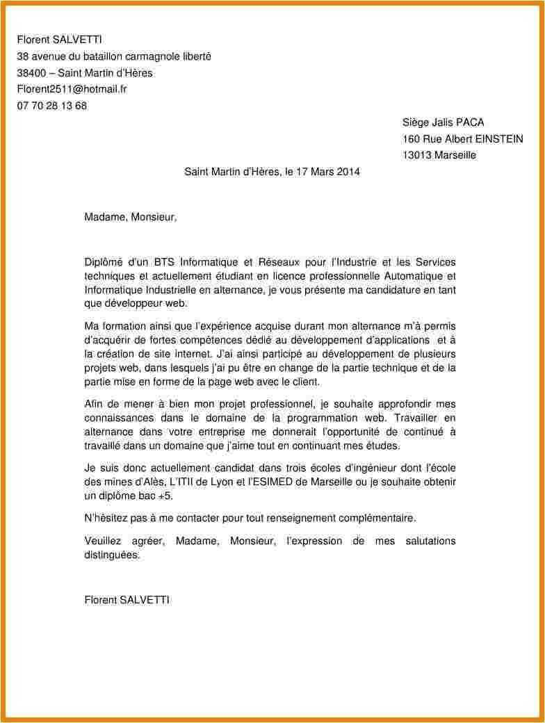 lettre de motivation stage maintenance industrielle bac