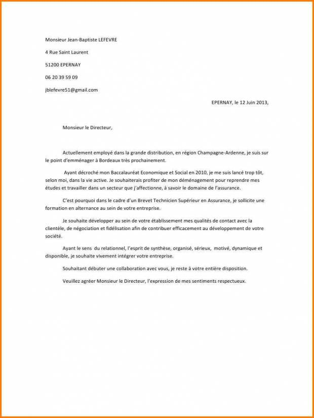 lettre de motivation formation technicien son
