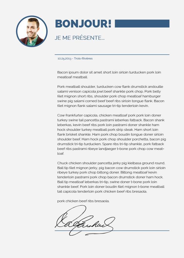 lettre de motivation illustrator