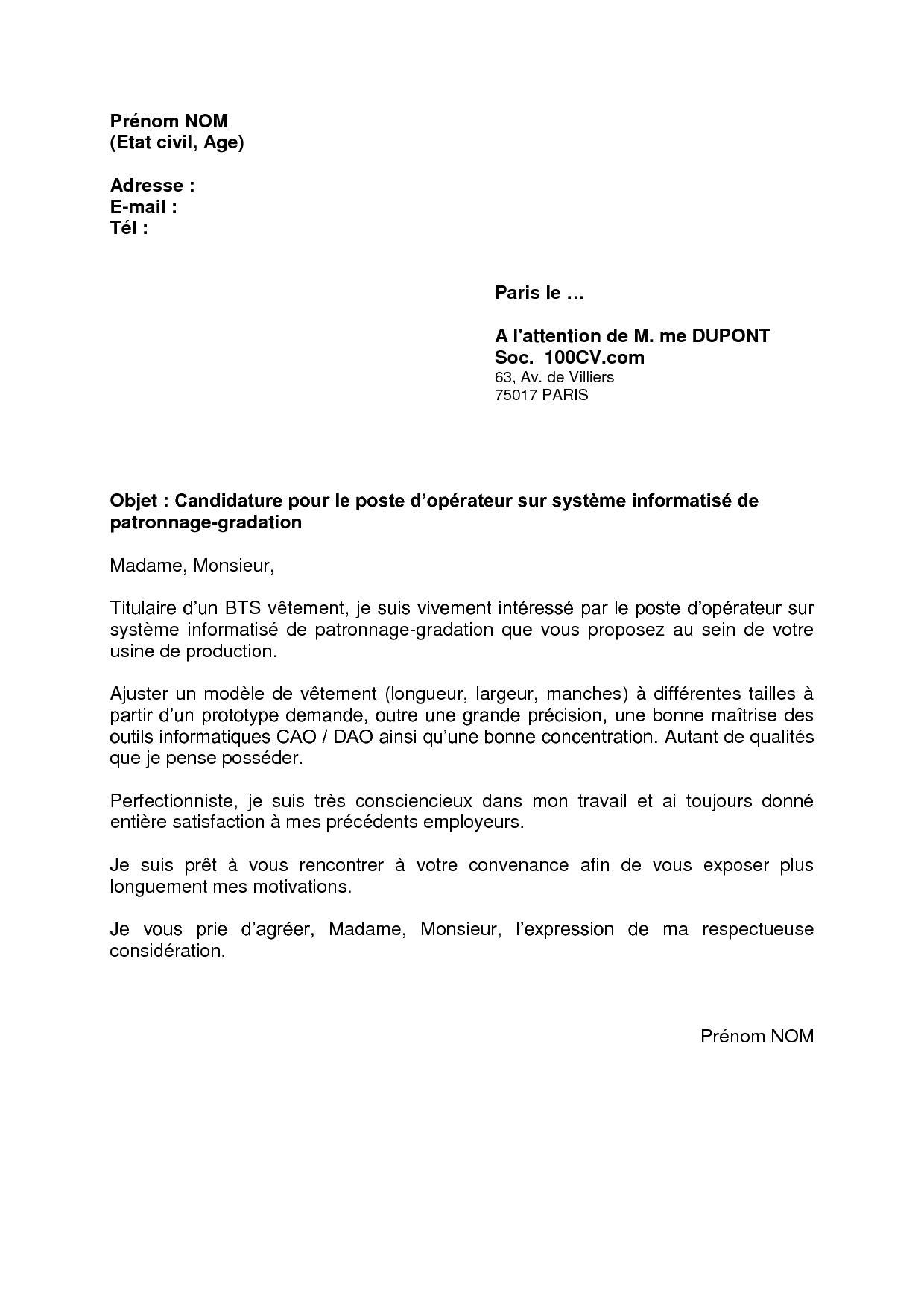 Modele lettre de motivation vae - laboite-cv.fr