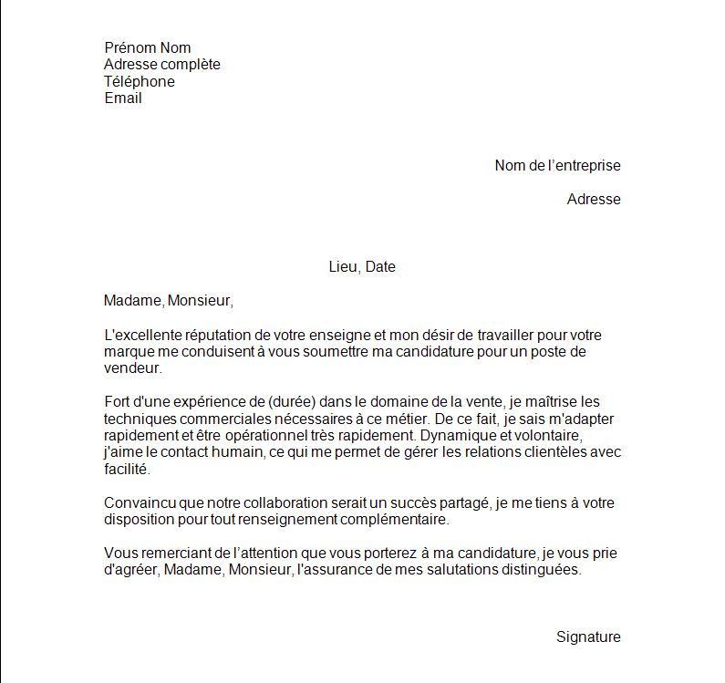 exemple lettre de motivation vendeur automobile