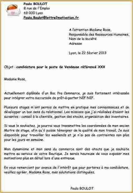 lettre de motivation vendeuse pret a porter job d u0026 39  u00e9t u00e9
