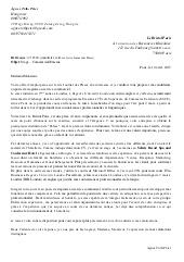 Lettre de motivation pour section européenne espagnol