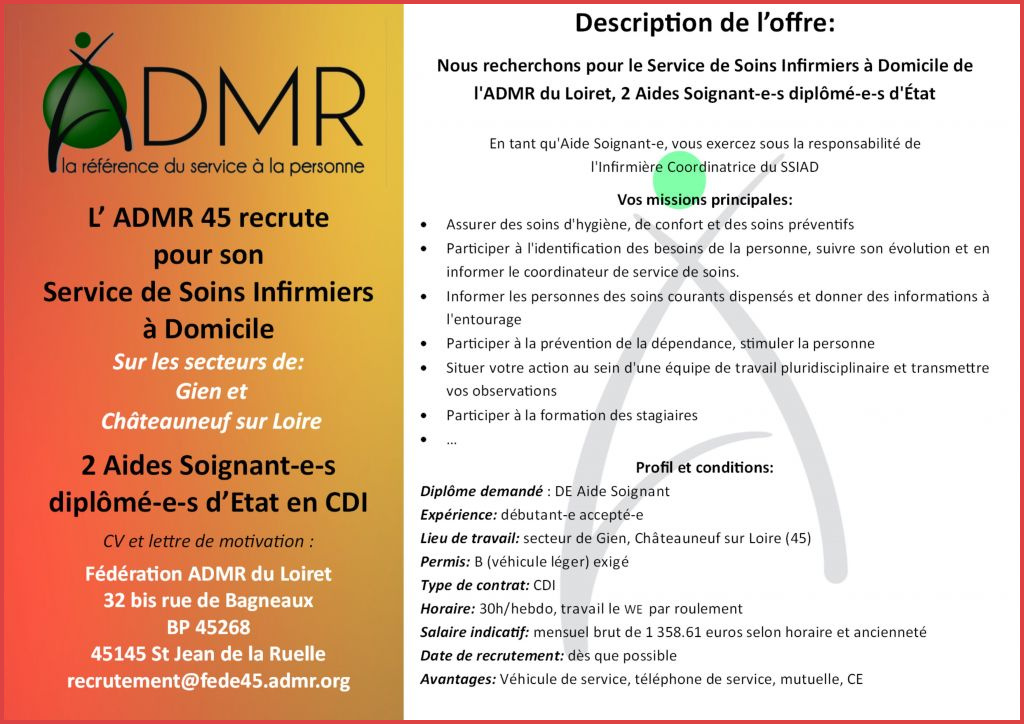 Lettre de motivation admr debutant
