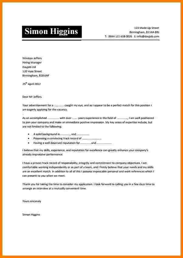 Exemples de lettre de motivation en anglais