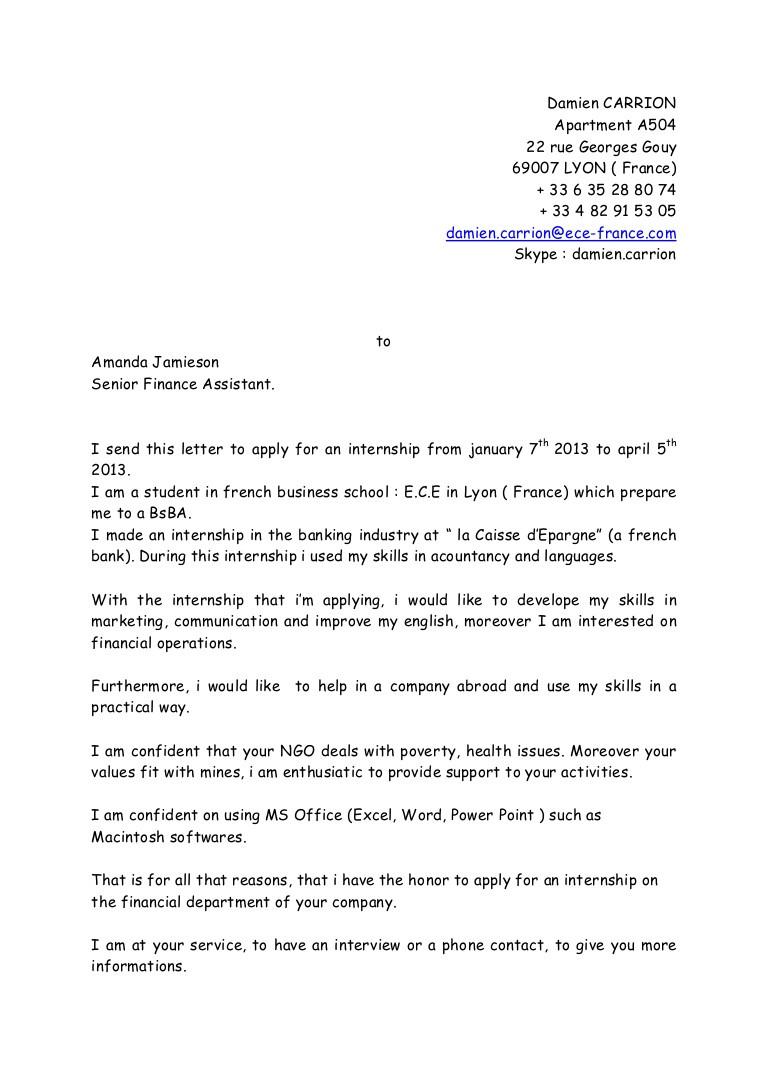 lettre de motivation audit big four