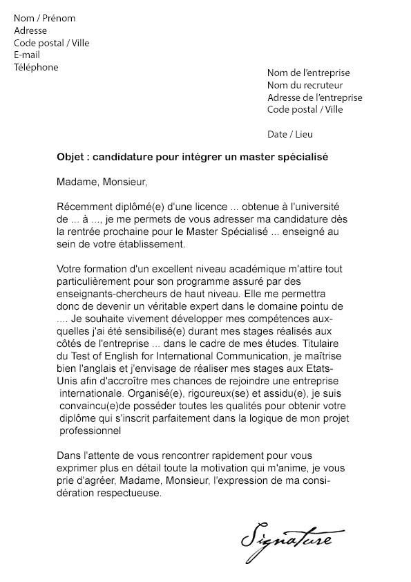 lettre de motivation chef de projet alternance
