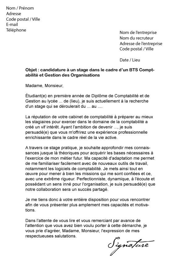 lettre de motivation pour bts en alternance commerce international