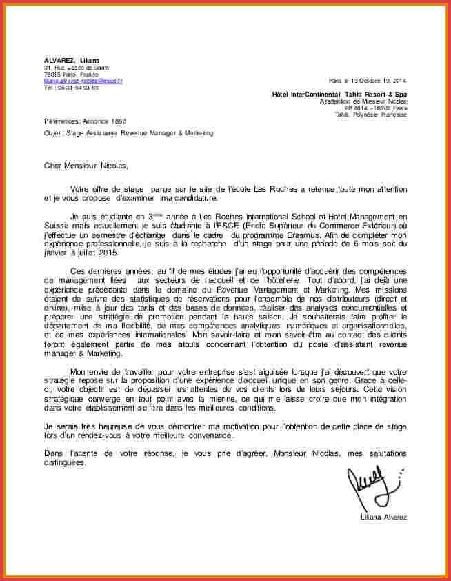 lettre de motivation candidature ecole de commerce