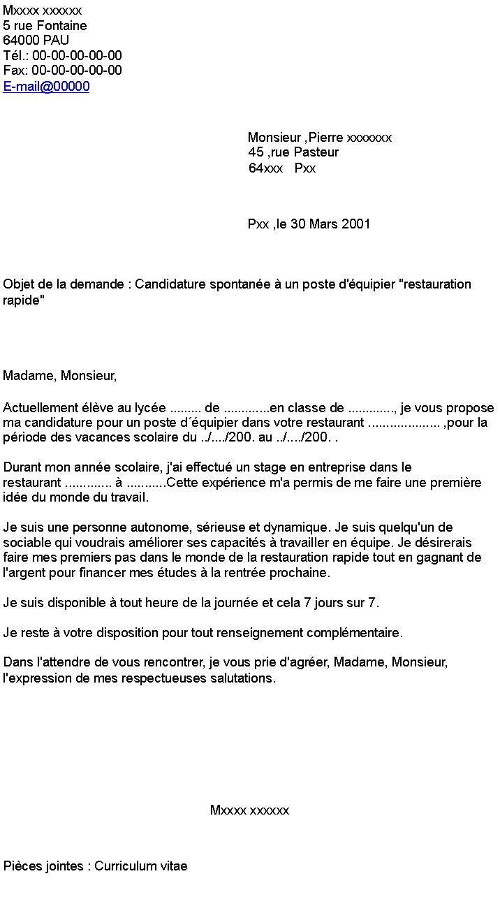 lettre de motivation  u00e9quipier logistique