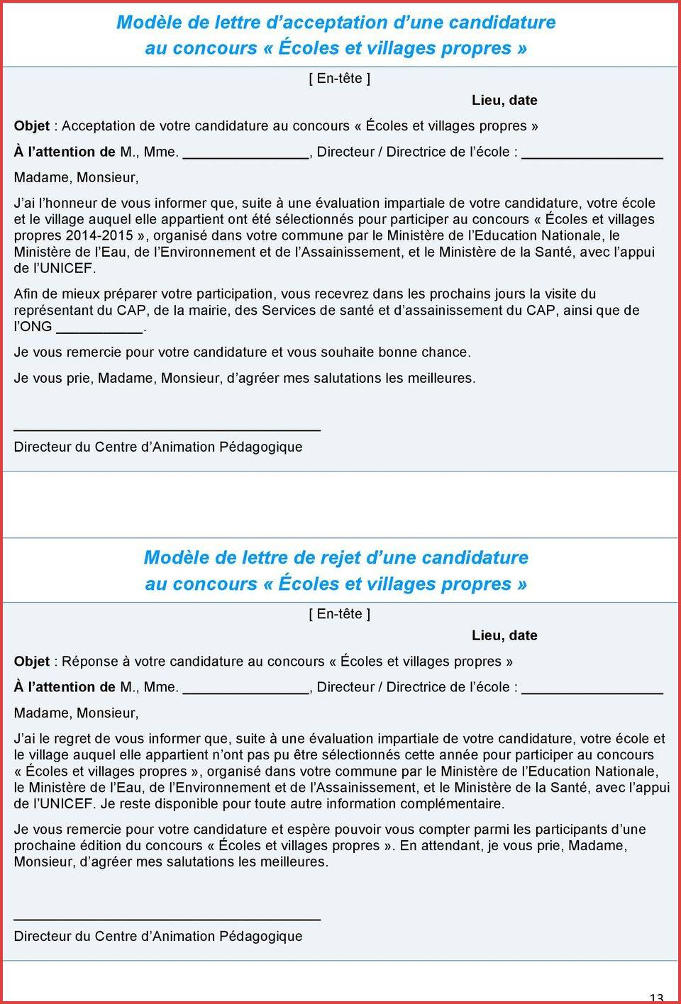 lettre de motivation  u00e0 l u0026 39 attention de madame le maire