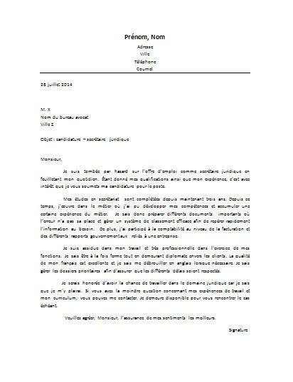 exemple lettre de motivation secr u00e9tariat