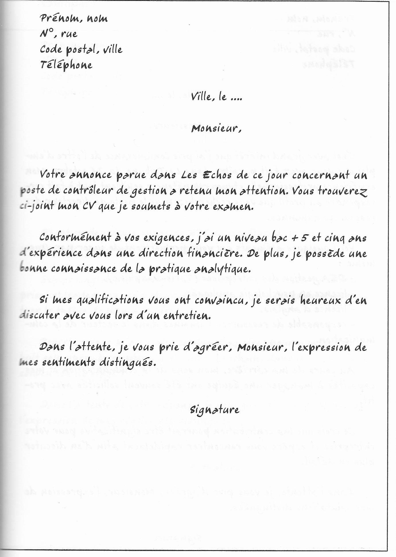 lettre de motivation technicien de laboratoire d u0026 39 analyse