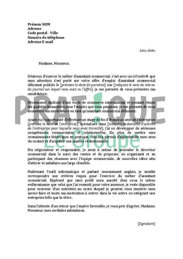 lettre de motivation technico commercial btp