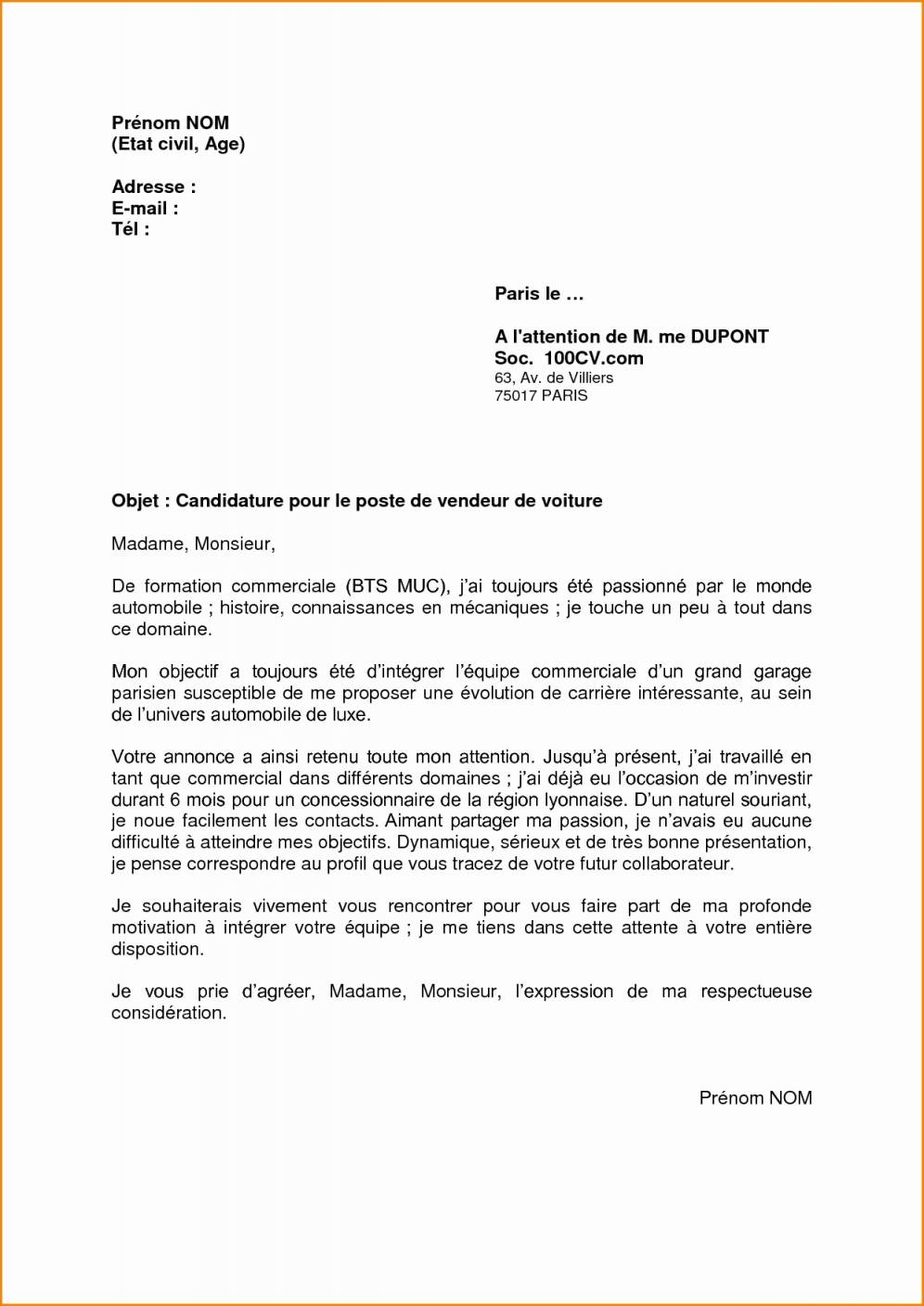 lettre de motivation vendeuse poissonnerie