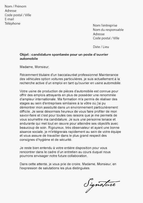 lettre de motivation license aes