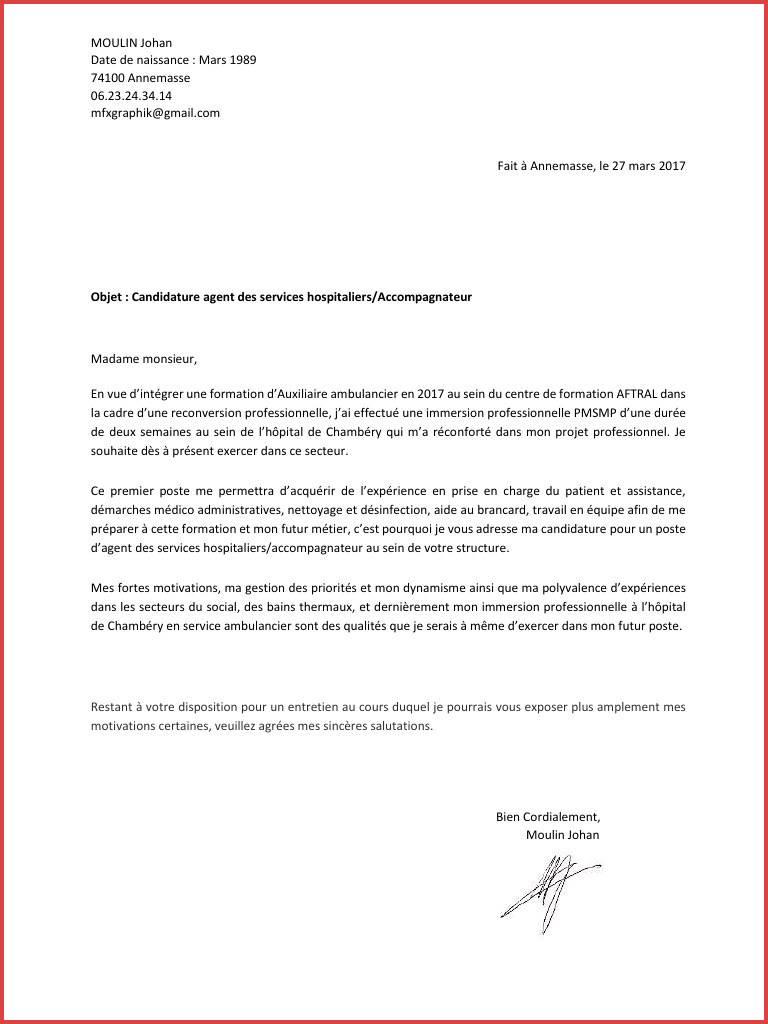 lettre de motivation demande de pmsmp