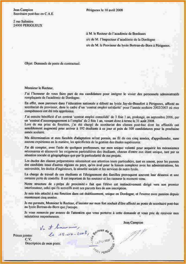 modele de lettre de motivation pour l u0026 39 inspection academique