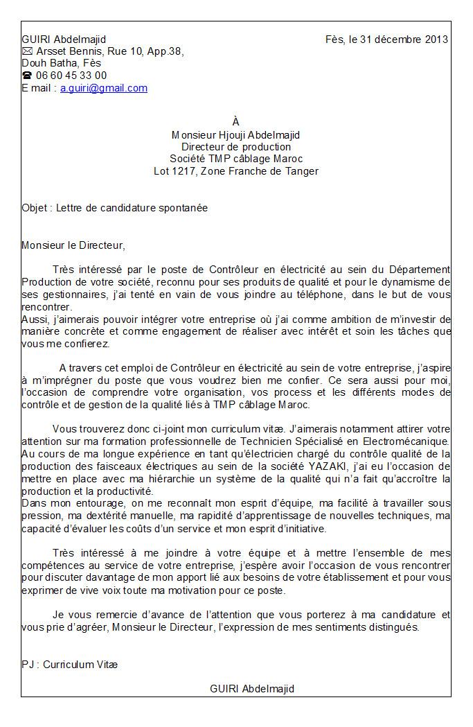 Intro lettre de motivation candidature spontanée - laboite ...