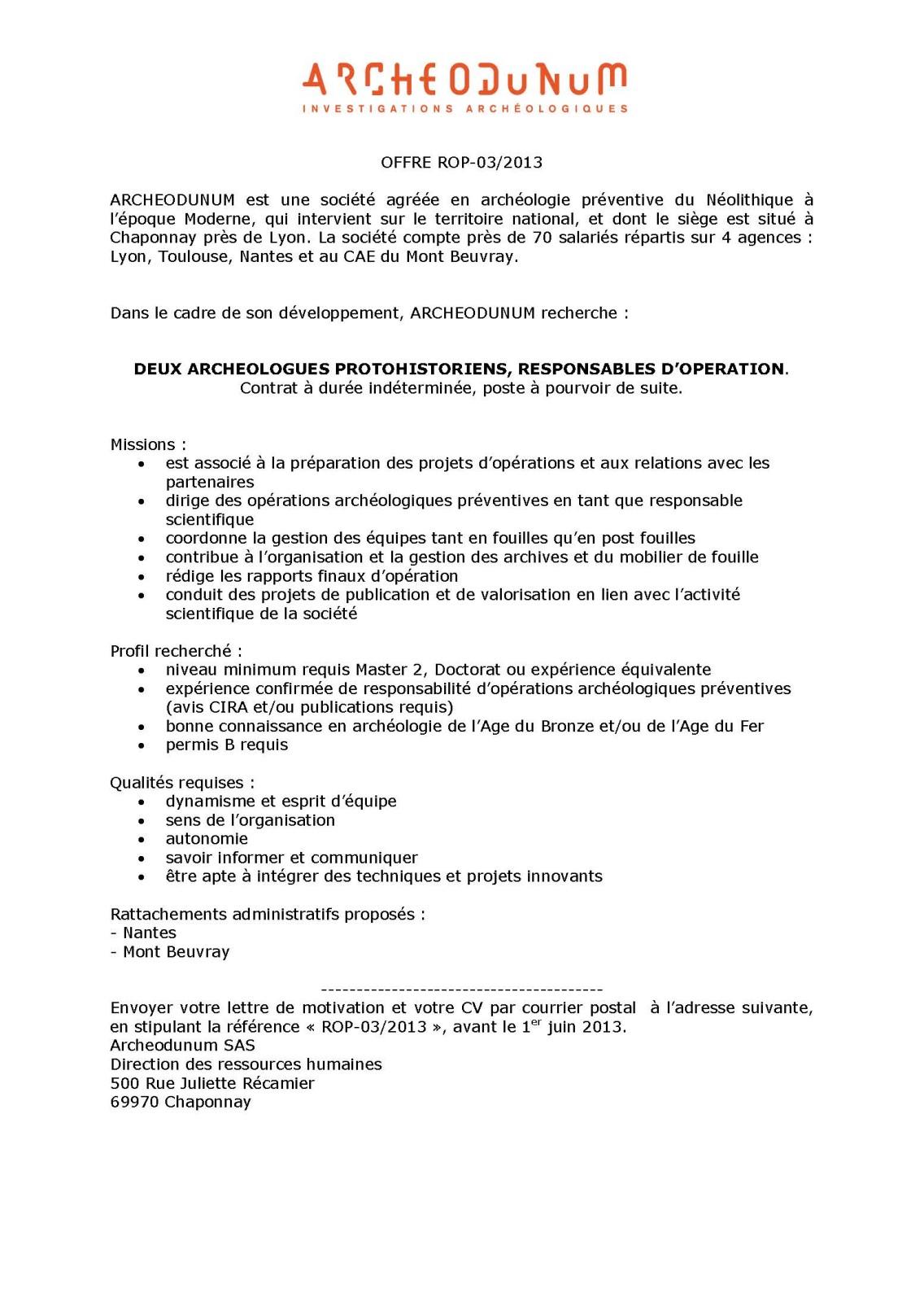 lettre de motivation master arch u00e9ologie