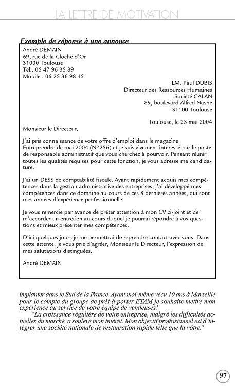 Lettre De Motivation Pour Bijouterie Sans Experience Laboite Cv Fr