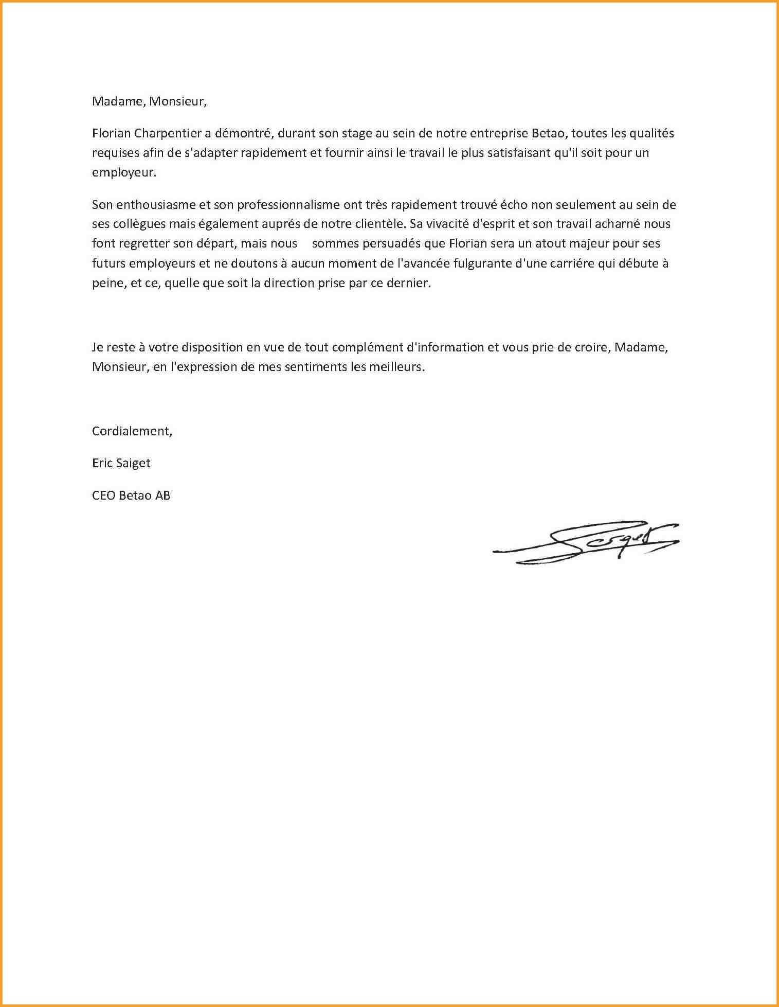 lettre de motivation type mcdo