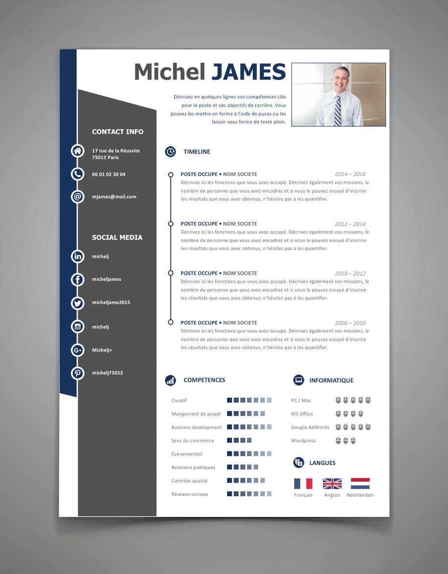 exemple de cv design word