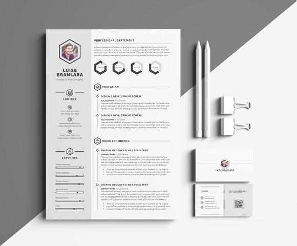curriculum vitae minimalist design