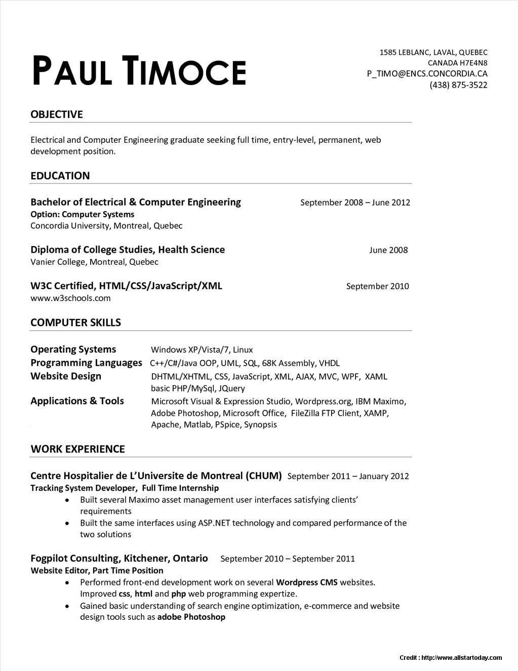 Curriculum vitae quebec - laboite-cv.fr