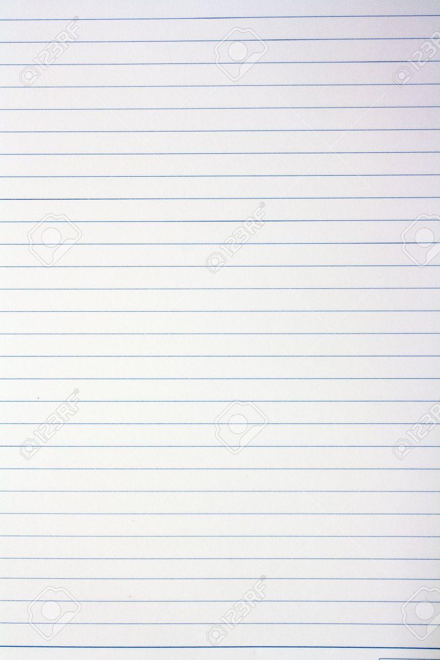 feuille avec ligne pour lettre de motivation