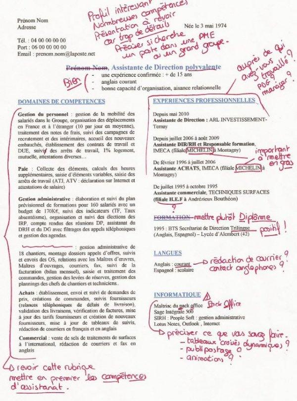 exemple de cv d u0026 39 assistante administrative