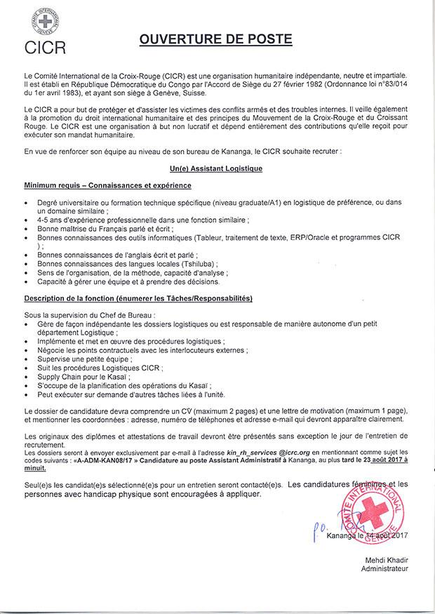 lettre de motivation assistante logistique