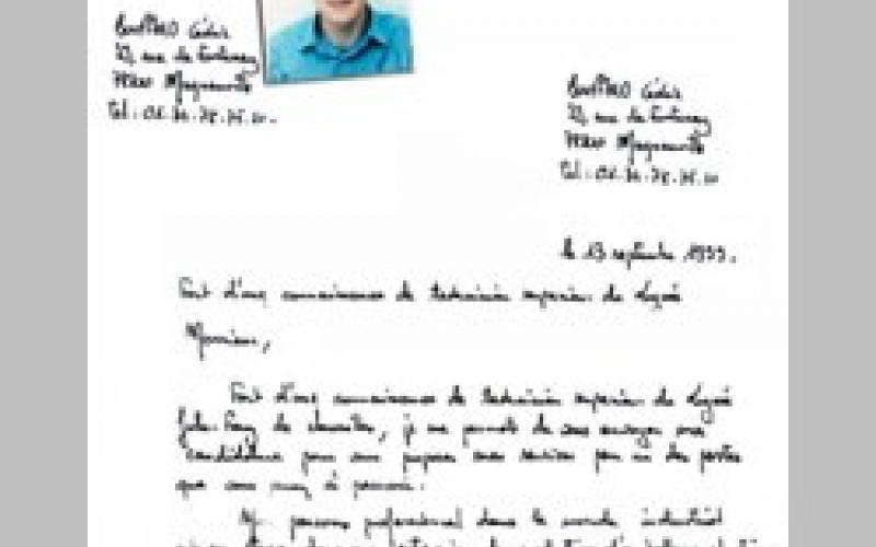 lettre de motivation  u00e9crite ou manuscrite