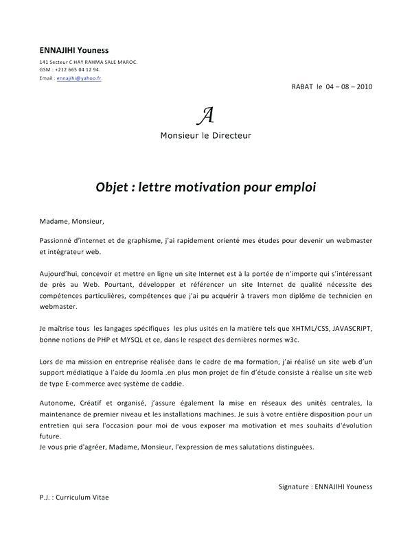 lettre de motivation agent polyvalent d u0026 39 entretien