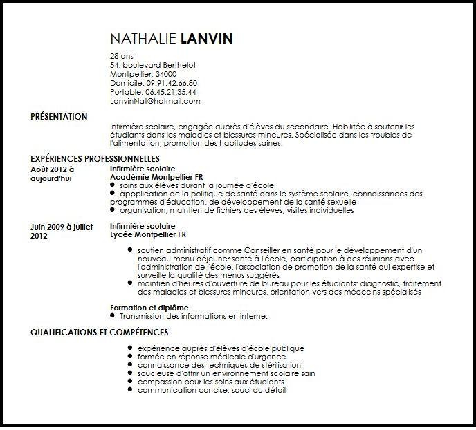 Exemple de cv étudiant infirmier - laboite-cv.fr