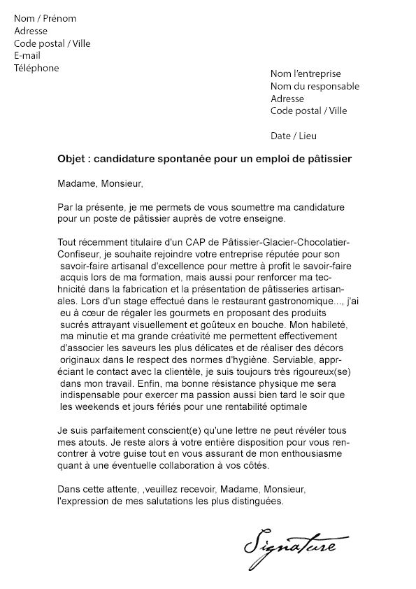 lettre de motivation apprentissage boulangerie