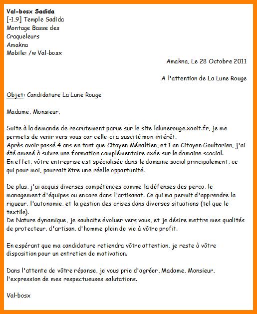 lettre de motivation armee de l air