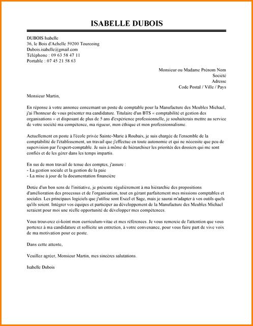 lettre de motivation comptabilit u00e9 et gestion