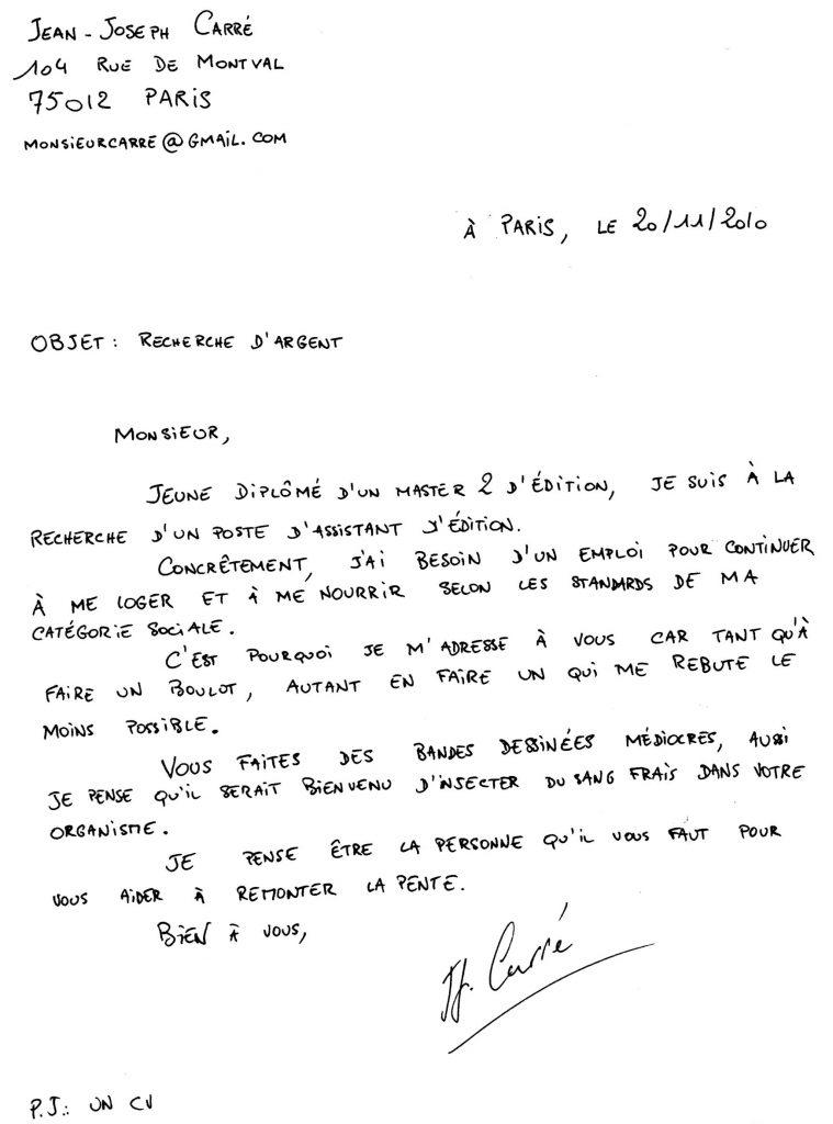 lettre de motivation manuscrite ou par ordinateur