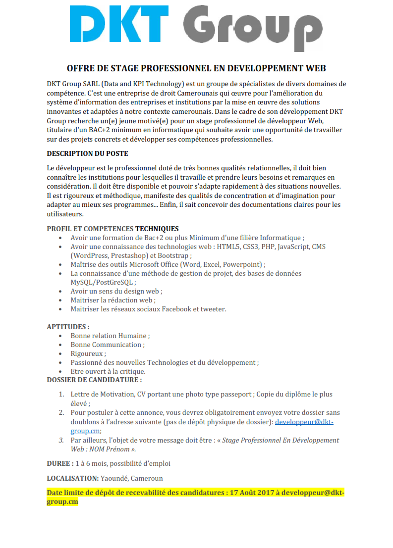 lettre de motivation developpeur web alternance